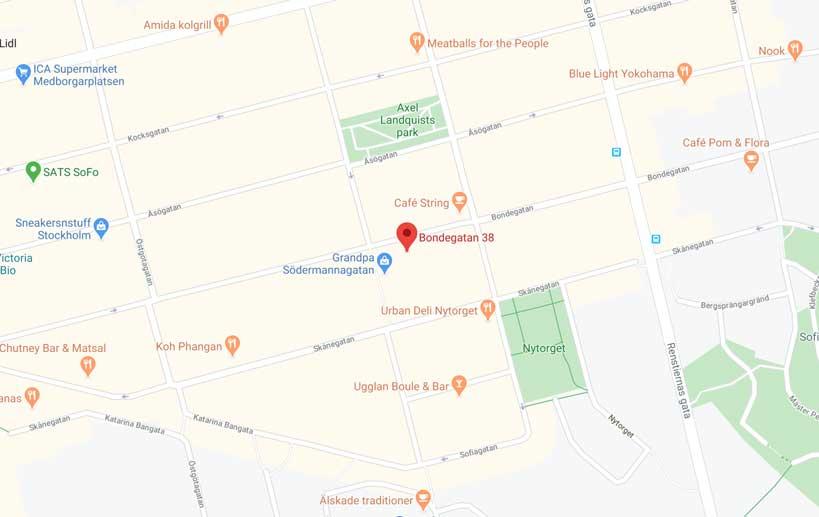 kartbild google maps veterinärkliken