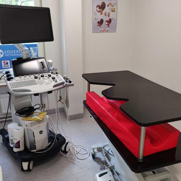 rum för ultraljudsundersökningar